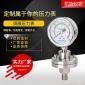 厂家直销 不锈钢耐震隔膜压力表YTP60BF 耐腐蚀耐高温 可定制